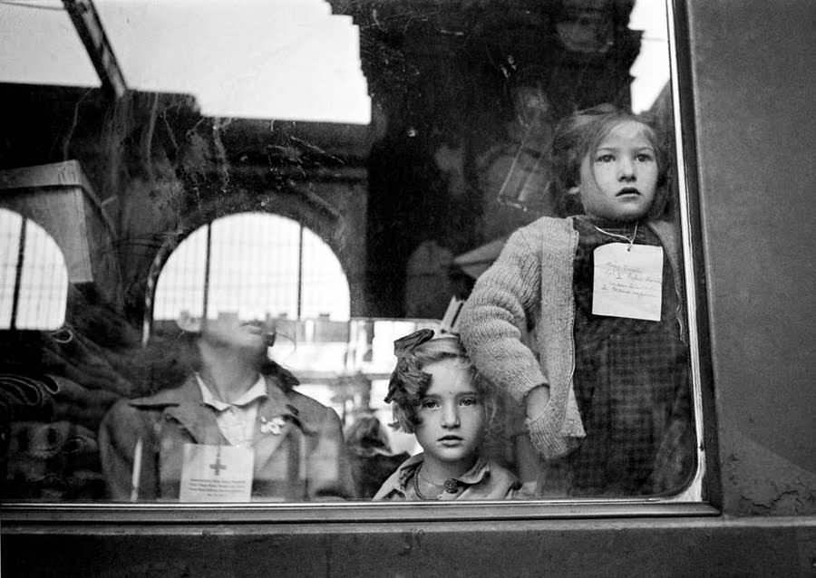 Red Cross train, Budapest, Hungary, 1947.