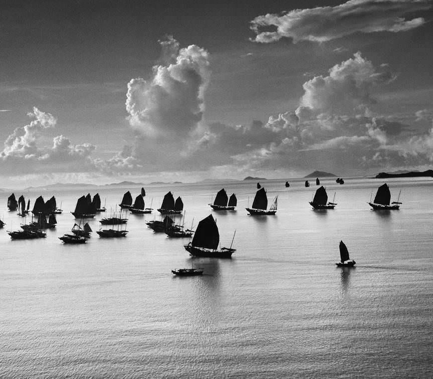 Junks, Hong Kong, 1952.