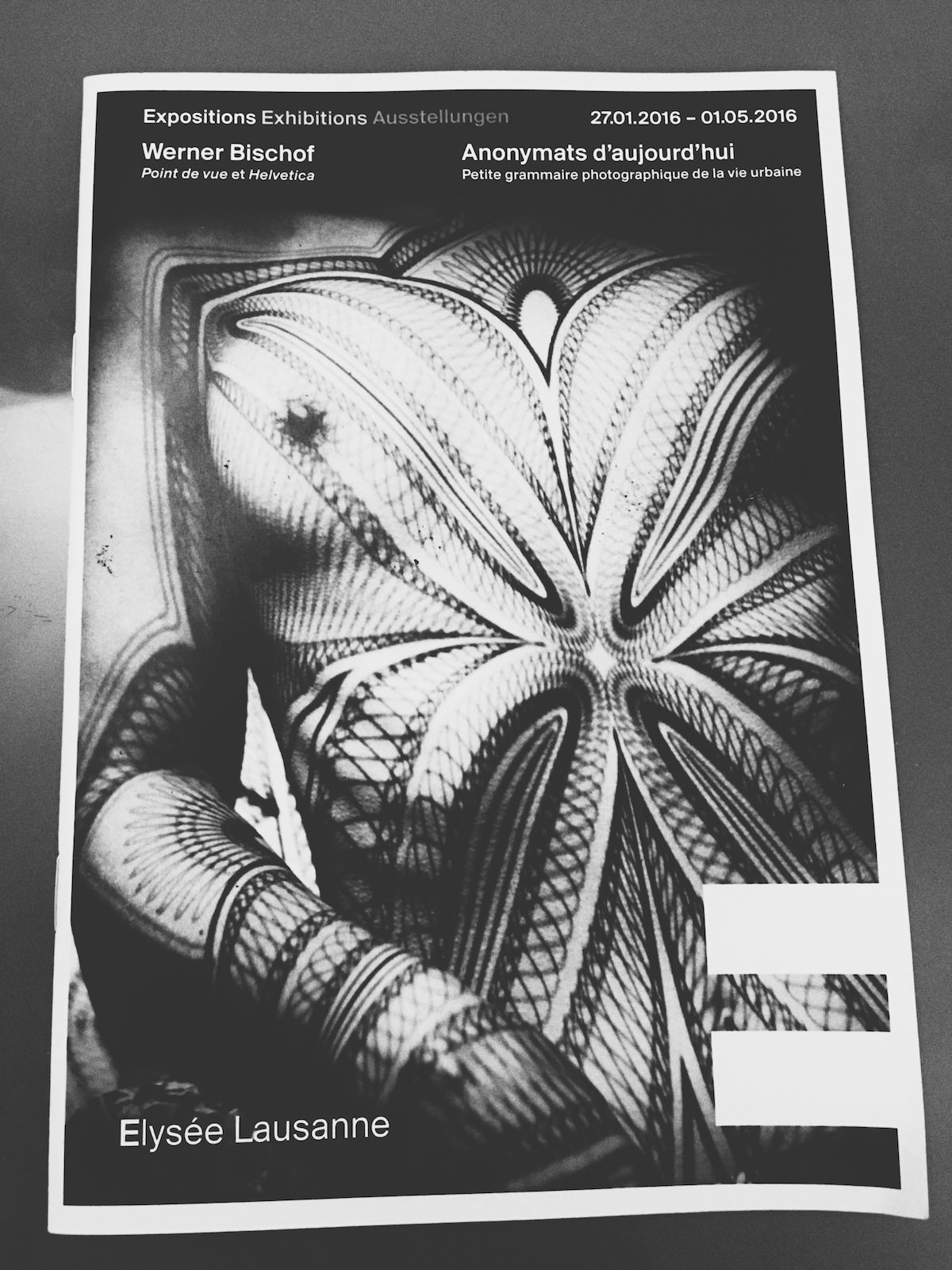"Werner Bischof exhibition programme featuring ""Breast with grid"" from 1941"